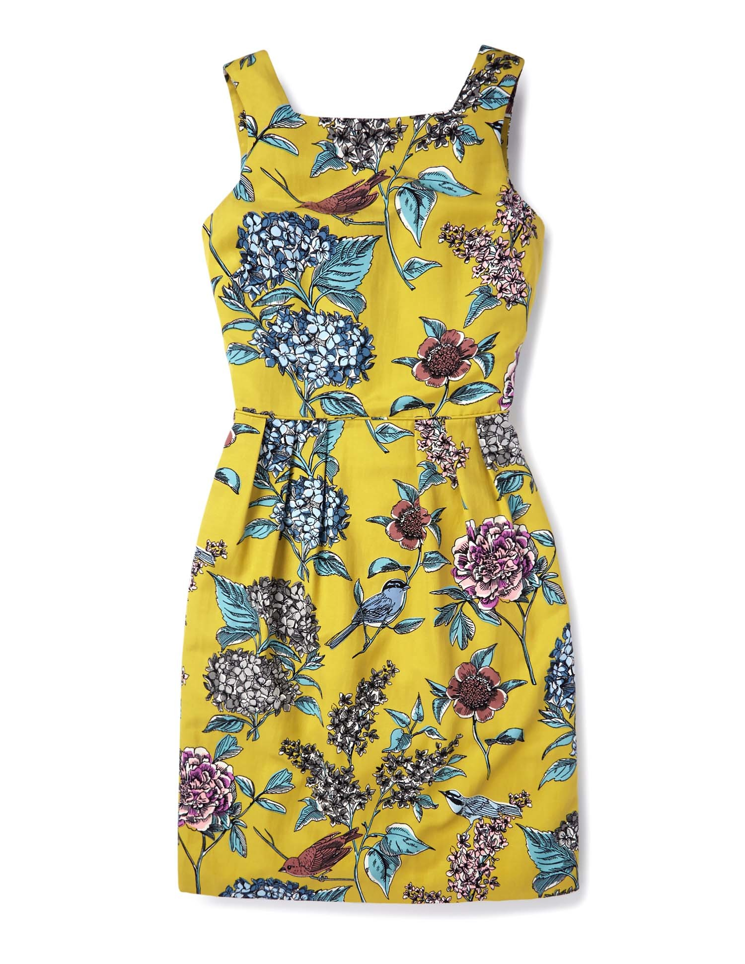 Kiera dress in sulphur botanical, £139, Boden