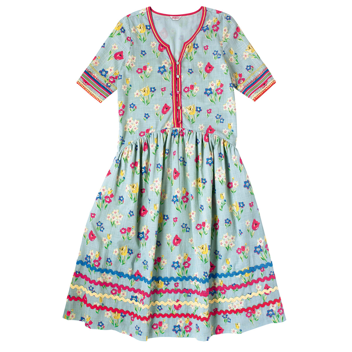 Paradise bunch button front dress, £90, Cath Kidston