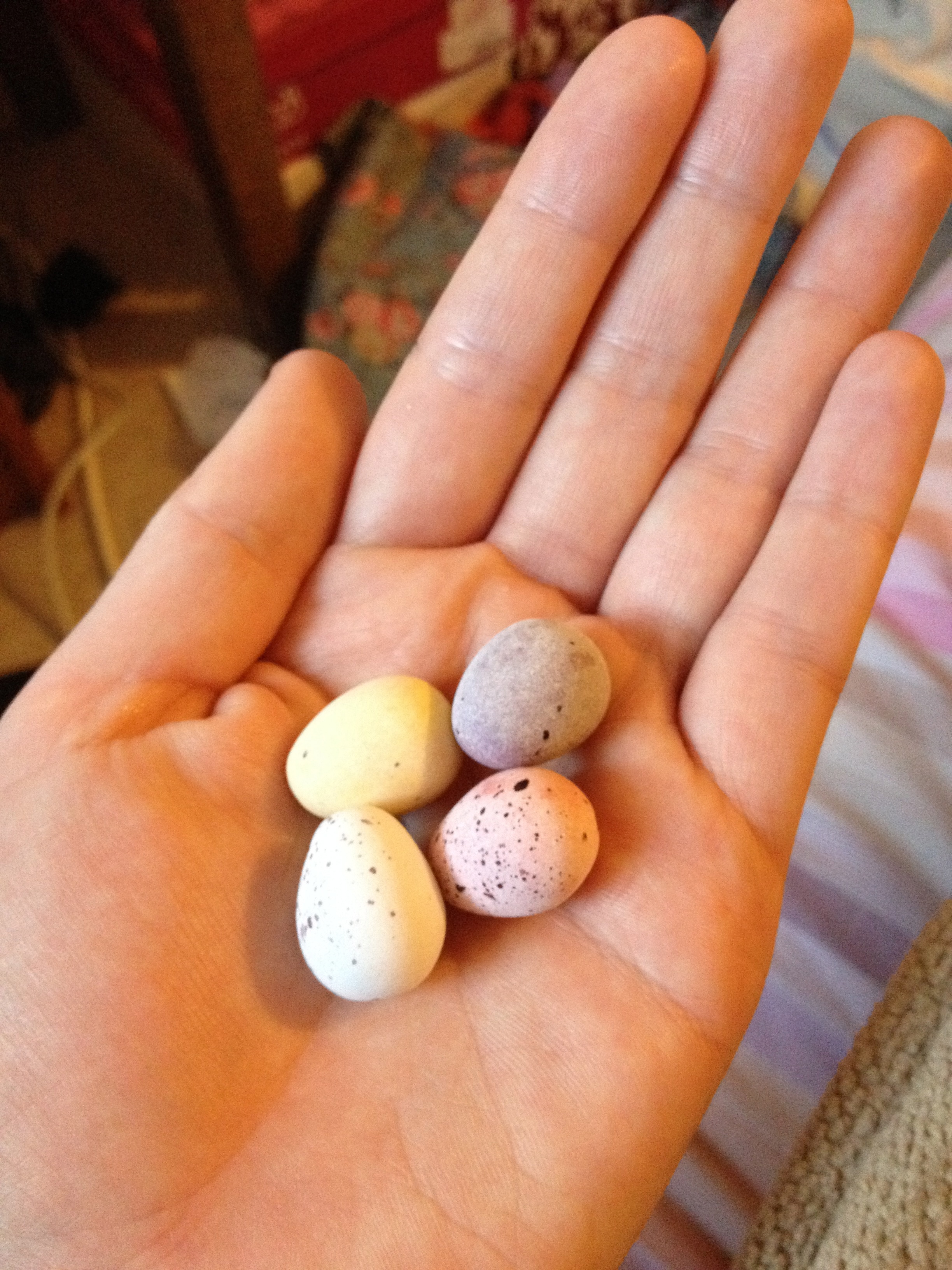An after walk snack of mini eggs