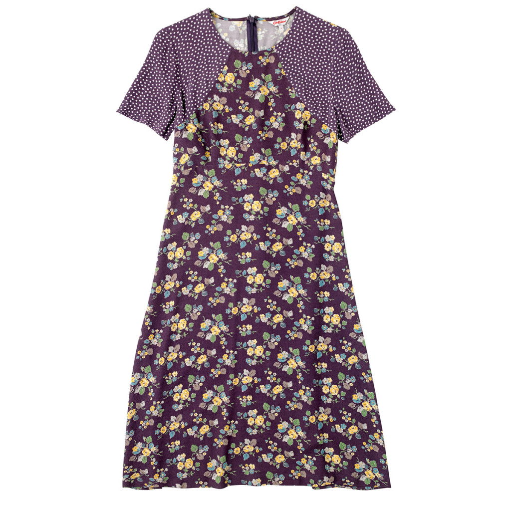 Woodland rose crepe dress, £75, Cath Kidston