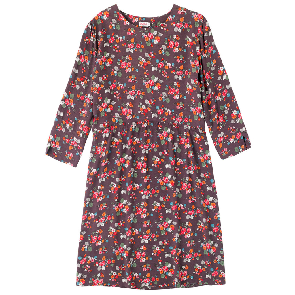 Woodland rose dropped waist crepe dress, £65, Cath Kidston