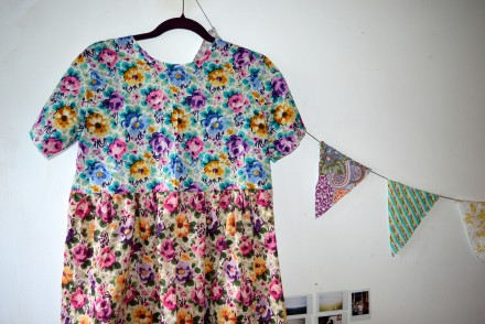 Liberty print smock dress And She Made