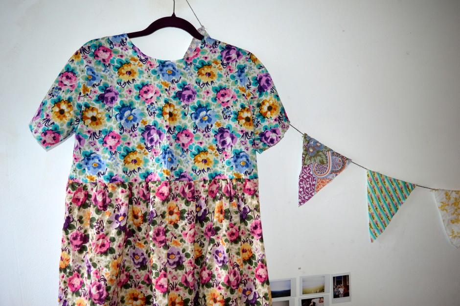 Liberty print smock dress And She Made