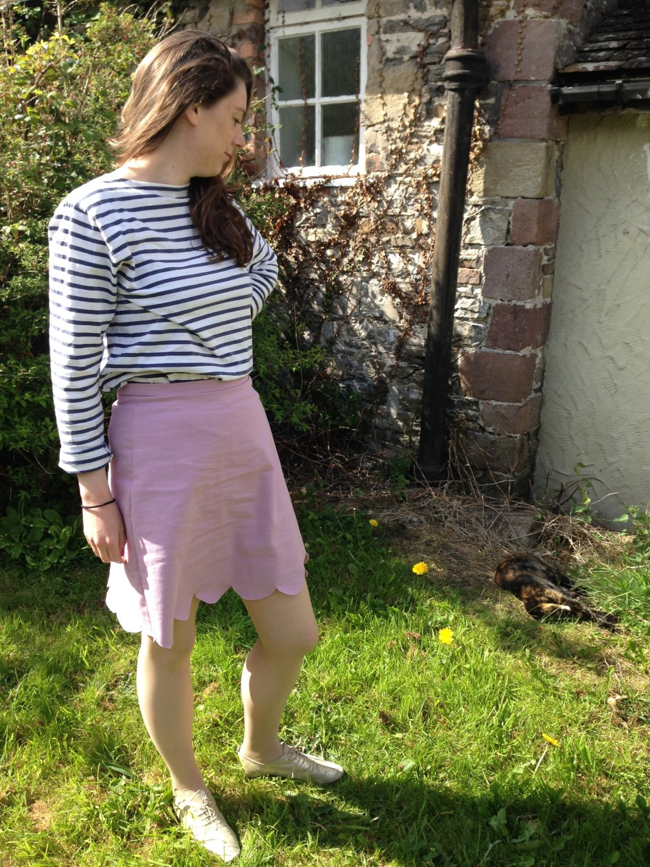 Scallop edged skirt And She Made