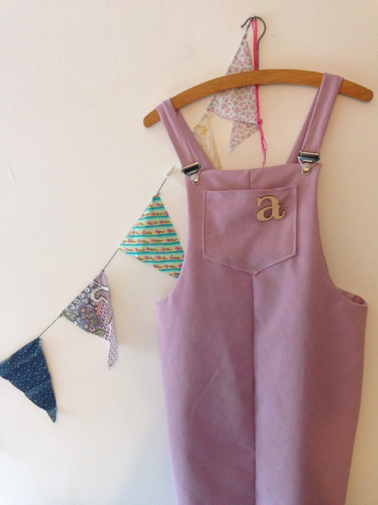 Pink Cleo dungaree dress And She Made