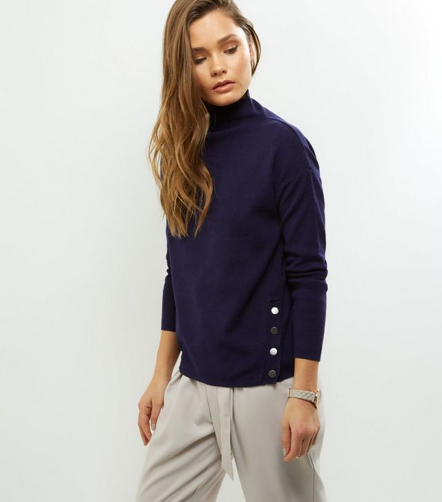 navy-popper-trim-funnel-neck-jumper-