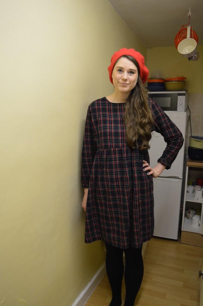 And She Made tartan dress