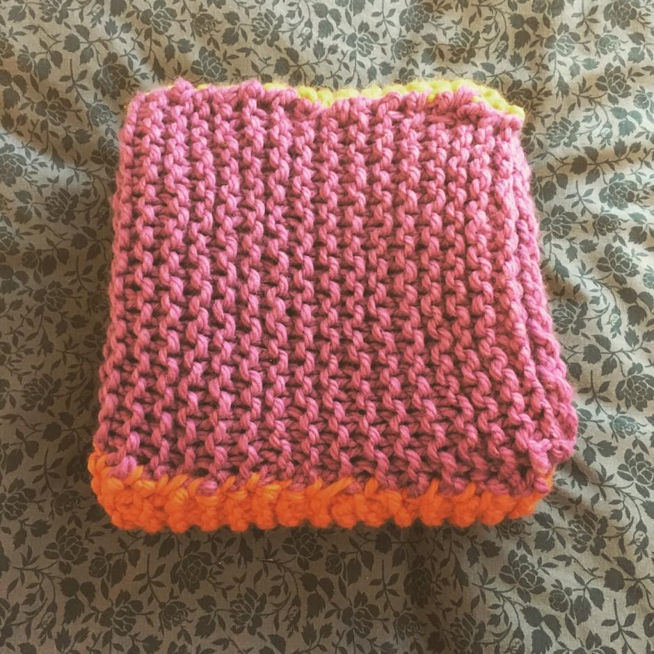 And She Made knitted blanket Rowan Big Wool