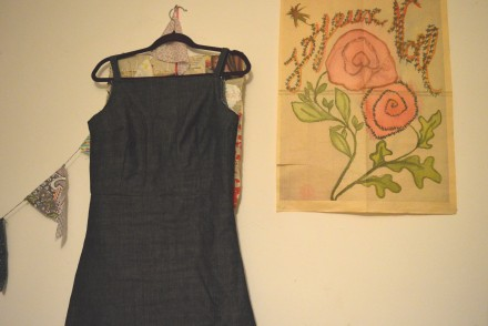 Self drafted pinafore in progress And She Made